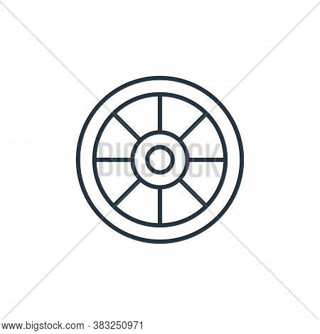 wheel icon isolated on white background from racing collection. wheel icon trendy and modern wheel s