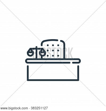 desk icon isolated on white background from law and justice collection. desk icon trendy and modern