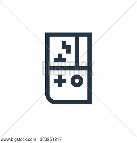 handheld console icon isolated on white background from esports collection. handheld console icon tr