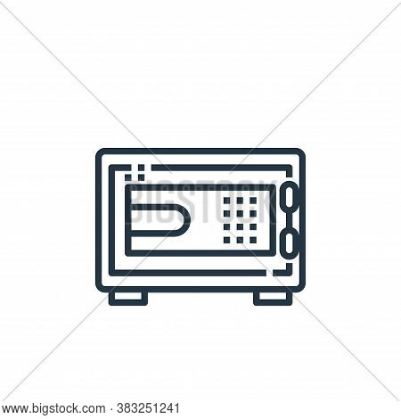 safe icon isolated on white background from hotel essentials collection. safe icon trendy and modern
