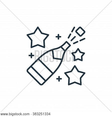 champagne icon isolated on white background from racing collection. champagne icon trendy and modern