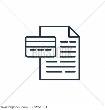 contract icon isolated on white background from money collection. contract icon trendy and modern co