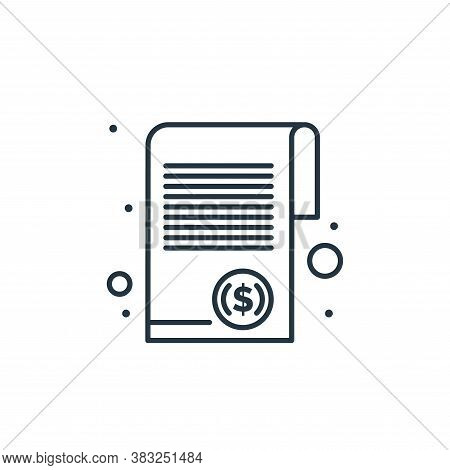 document icon isolated on white background from taxes collection. document icon trendy and modern do