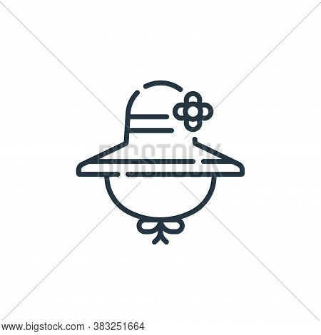 hat icon isolated on white background from spring collection. hat icon trendy and modern hat symbol