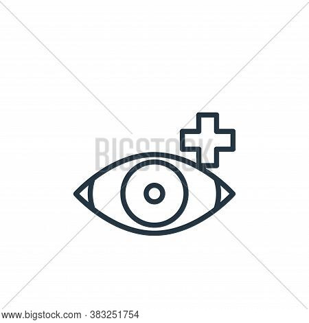 eyeball icon isolated on white background from health collection. eyeball icon trendy and modern eye