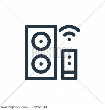 smart speaker icon isolated on white background from smart home collection. smart speaker icon trend