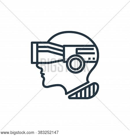 vr camera icon isolated on white background from artificial intelligence collection. vr camera icon