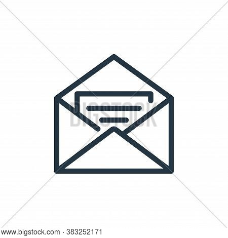 open envelope icon isolated on white background from business collection. open envelope icon trendy
