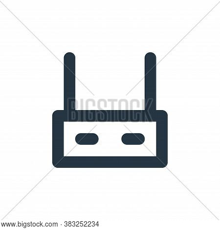 router icon isolated on white background from px network and communication collection. router icon t