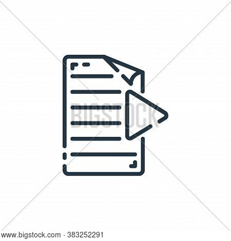 media icon isolated on white background from documents collection. media icon trendy and modern medi