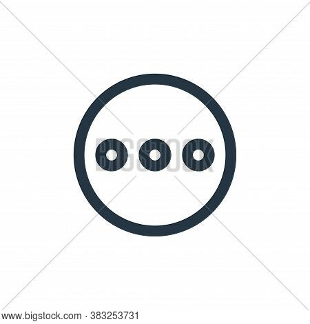 more icon isolated on white background from user interface collection. more icon trendy and modern m
