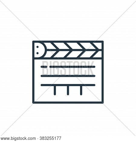 clapperboard icon isolated on white background from education collection. clapperboard icon trendy a