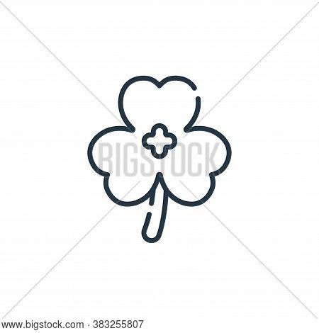 shamrock icon isolated on white background from ireland collection. shamrock icon trendy and modern