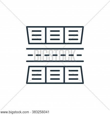 stadium icon isolated on white background from racing collection. stadium icon trendy and modern sta