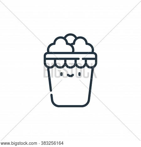 popcorn box icon isolated on white background from carnival collection. popcorn box icon trendy and