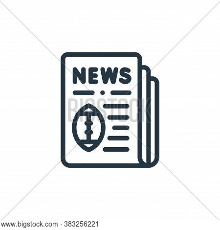 newspaper icon isolated on white background from american football collection. newspaper icon trendy