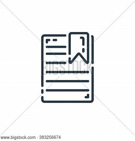 marked icon isolated on white background from documents collection. marked icon trendy and modern ma
