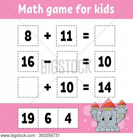 Math Game For Kids. Education Developing Worksheet. Activity Page With Pictures. Game For Children.
