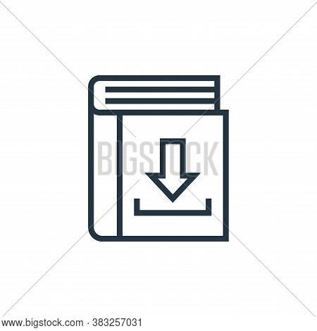 download icon isolated on white background from book and document collection. download icon trendy a