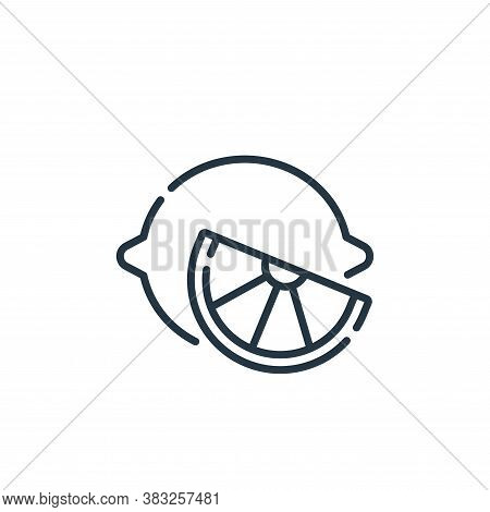 lemon icon isolated on white background from spring collection. lemon icon trendy and modern lemon s