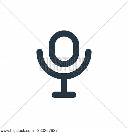 microphone icon isolated on white background from px devices collection. microphone icon trendy and