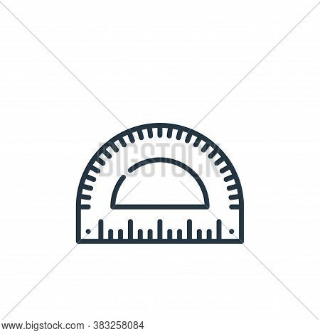 protractor icon isolated on white background from education collection. protractor icon trendy and m