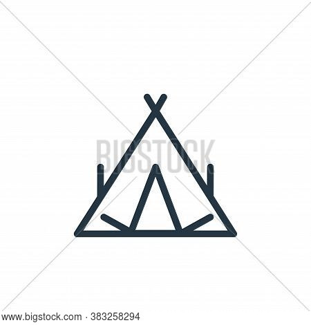 tent icon isolated on white background from spring collection. tent icon trendy and modern tent symb