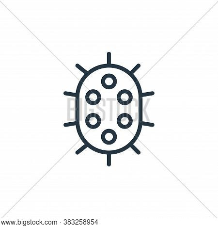 bacteria icon isolated on white background from microorganism collection. bacteria icon trendy and m