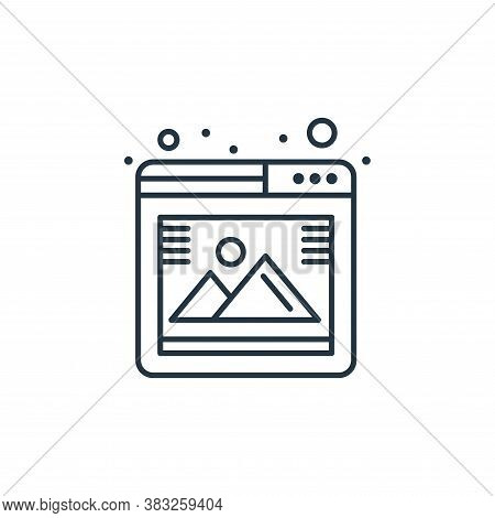 gallery icon isolated on white background from seo collection. gallery icon trendy and modern galler