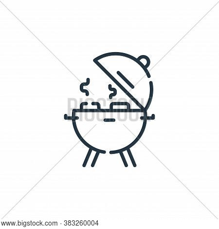 barbecue icon isolated on white background from event collection. barbecue icon trendy and modern ba