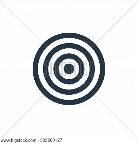 bullseye icon isolated on white background from business and management collection. bullseye icon tr