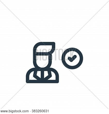 man icon isolated on white background from voting elections collection. man icon trendy and modern m