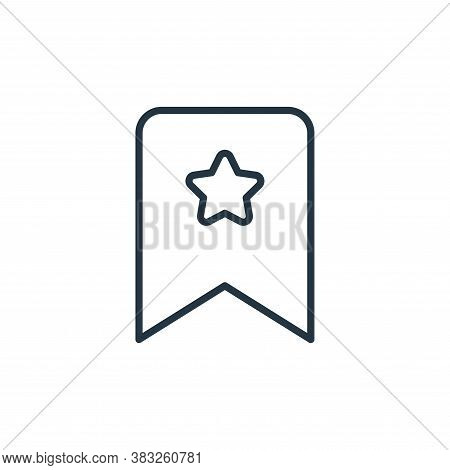 bookmark icon isolated on white background from communication collection. bookmark icon trendy and m