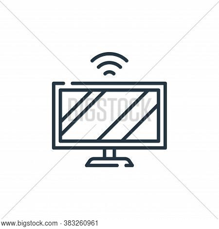 smart tv icon isolated on white background from smarthome collection. smart tv icon trendy and moder