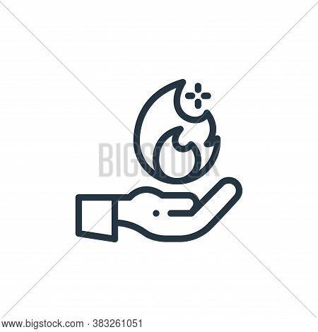 hand icon isolated on white background from magic collection. hand icon trendy and modern hand symbo
