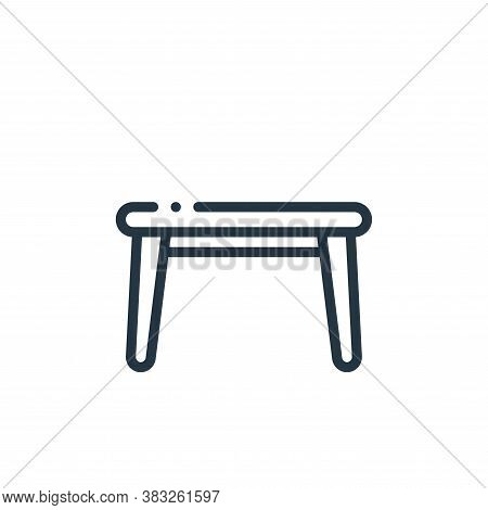 side table icon isolated on white background from furniture collection. side table icon trendy and m