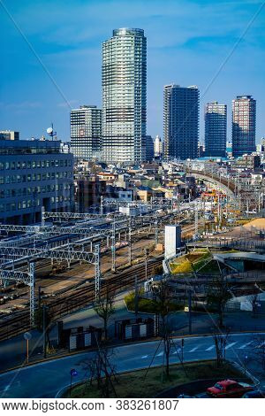 Tokyo / Japan - March 16, 2019: Tokyo Cityscape With Railways Metro System, Top View From Tokyo Skyt