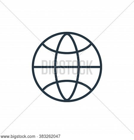 global icon isolated on white background from communication collection. global icon trendy and moder
