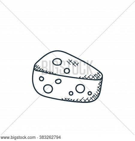 cheese icon isolated on white background from food collection. cheese icon trendy and modern cheese