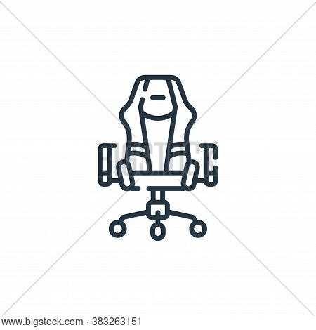 gaming chair icon isolated on white background from esports collection. gaming chair icon trendy and