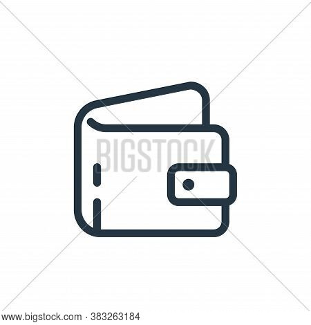 wallet icon isolated on white background from ecommerce line collection. wallet icon trendy and mode