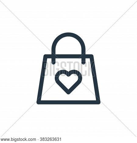 shopping bag icon isolated on white background from valentines day collection. shopping bag icon tre