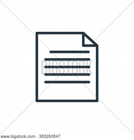 paper icon isolated on white background from busines and finace collection. paper icon trendy and mo
