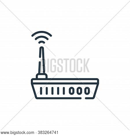 router icon isolated on white background from smarthome collection. router icon trendy and modern ro