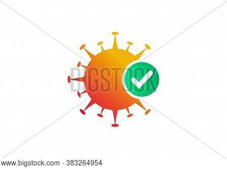 Antiviral Antibacterial Corona Virus Formula Vector Icons. Safe From Corona, Corona Protection Logo.