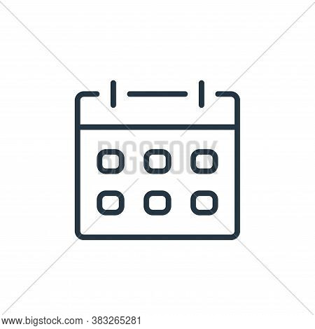 calendar icon isolated on white background from communication collection. calendar icon trendy and m