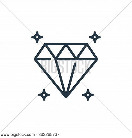 diamond icon isolated on white background from business collection. diamond icon trendy and modern d