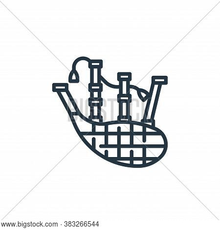 bagpipes icon isolated on white background from st patrick day collection. bagpipes icon trendy and