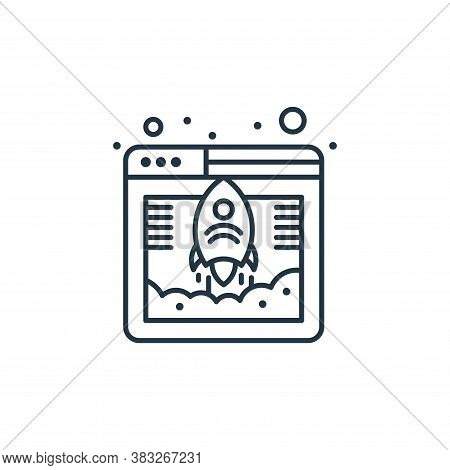 startup icon isolated on white background from web hosting collection. startup icon trendy and moder