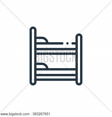 bunk bed icon isolated on white background from furniture collection. bunk bed icon trendy and moder